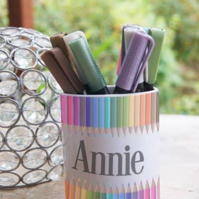 Personalised Coloured Pencils Ceramic Pot
