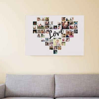 Personalised Heart Collage Design