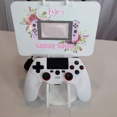 Personalised Pink Acrylic Gaming Station