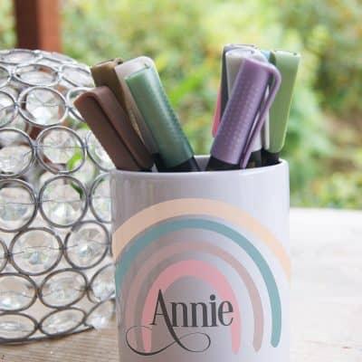 Personalised Rainbow Ceramic Pot