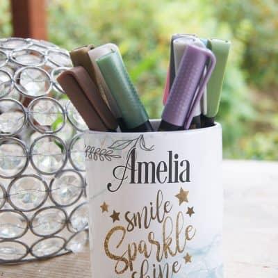 Personalised Smile Sparkle Shine Ceramic Pot