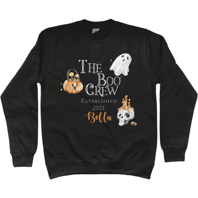 Personalised The Boo Crew Kids Jumper